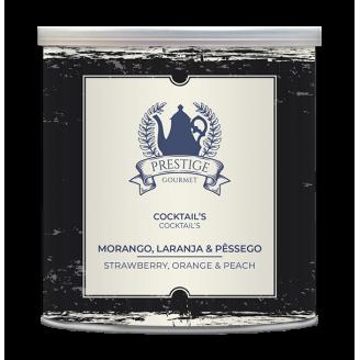 Cocktail Morango, Laranja e...